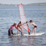 Sporten op het strand van Vrouwenpolder